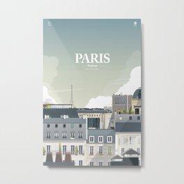 Alone In Paris - Paris s'éveille (Paris wake up) Metal Print
