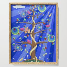 Mandala Tree of Life and Love Serving Tray