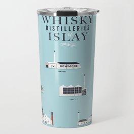 Whisky Distilleries of Islay Travel Mug