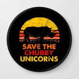 Save The Chubby Unicorns Wall Clock