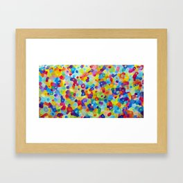 Color Spackle Framed Art Print
