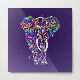 Not a circus elephant #violet by #Bizzartino Metal Print