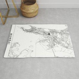 Mumbai White Map Rug