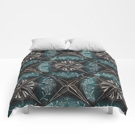 Forget me not compass (blue) Comforters
