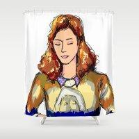 olivia joy Shower Curtains featuring OLIVIA by AshlynDrake