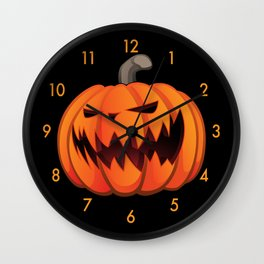 Jack O' Lantern Halloween Pumpkin Wall Clock