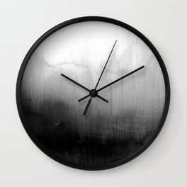 Modern Black and White Watercolor Gradient Wall Clock