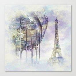 Typical Paris | watercolor Canvas Print
