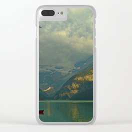 At A Loss For Words Clear iPhone Case