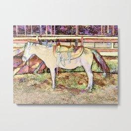Saddle On Horseback 1  Metal Print