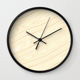 Basswood Surface Texture Wall Clock