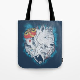 The princess and the wolf Tote Bag