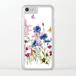 Wildflowers IV Clear iPhone Case