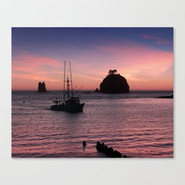 Sunset at First Beach - La Push Canvas Print
