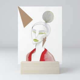Marleen has sharp edges Mini Art Print