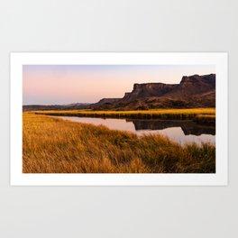 Bill Williams River in Parker Arizona Art Print