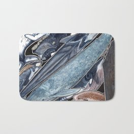 Sperm whale, grey, blue, fin, minke and right whales Bath Mat