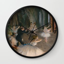 "Edgar Degas ""The Rehearsal Onstage"" Wall Clock"