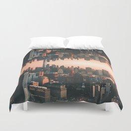 New York City Skyline Surreal Duvet Cover