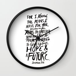 Jeremiah 29 Wall Clock