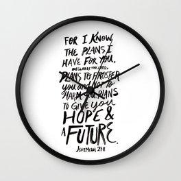 Jeremiah 29 Wall Clock