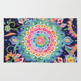 Color Celebration Mandala Rug