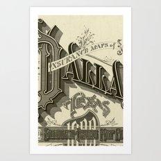 vintage typography Art Print