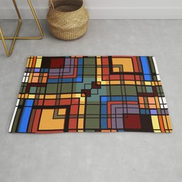 Colorful CUBES abstract Rug