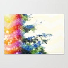 Rain / Rainbow Chevron Canvas Print