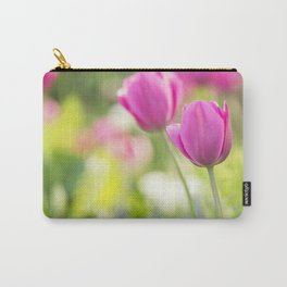 Pink Tulip Flower Carry-All Pouch