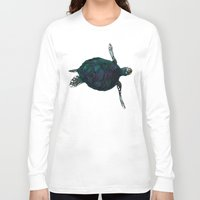 sea turtle Long Sleeve T-shirts featuring Sea Turtle by Ben Geiger