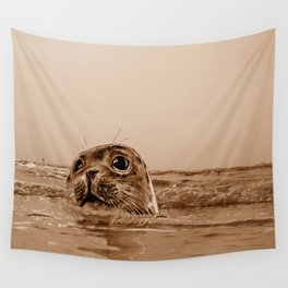 The SEAL - sepia 17 Wall Tapestry
