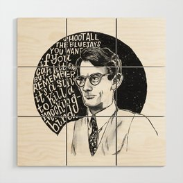 Atticus Finch Wood Wall Art