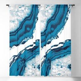 Blue Agate #2 #gem #decor #art #society6 Blackout Curtain