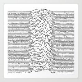 Unknown Pleasures - White Art Print