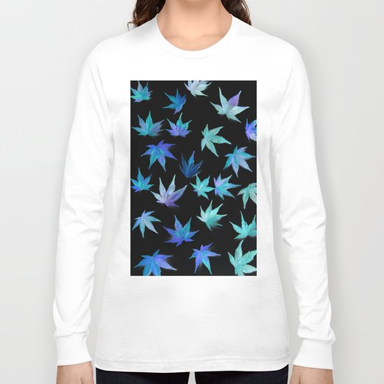 AUTUMN ROMANCE - LEAVES PATTERN #1 #decor #art #society6 Long Sleeve T-shirt
