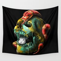 fear Wall Tapestries featuring Fear and Desire by nicebleed