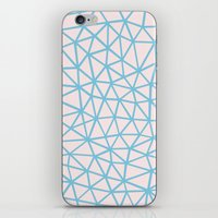 Seg Blue Pink iPhone & iPod Skin