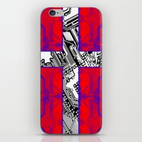 denmark iPhone & iPod Skins featuring circuit board Flag (Denmark) by seb mcnulty