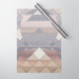 Pyramid Sun Fog Wrapping Paper