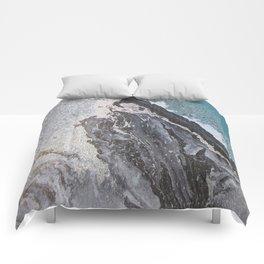 Acrylic marbling painting 0II Comforters