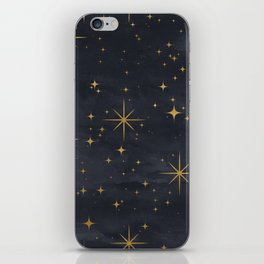 Seamless Pattern Night Sky Gold Stars Magical Mystical Pattern iPhone Skin
