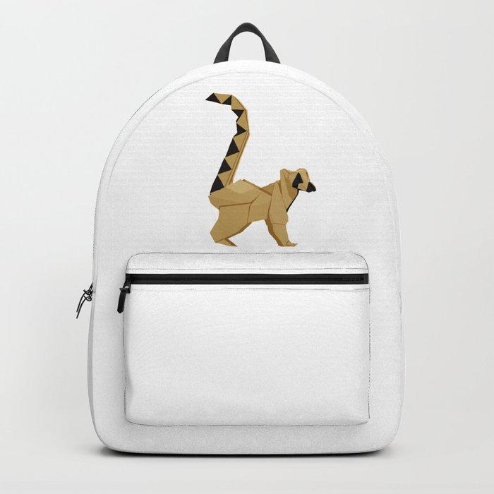 5314e2e630d8 Origami Lemur Backpack by staskhabarov
