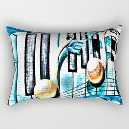 Deep Ellum Music Note Mural - Surreal Rectangular Pillow