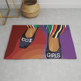 100% Girls - A shoe can save the day Rug