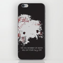 Evil Wombat of Death iPhone Skin