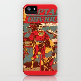 Captain Obvious! iPhone Case