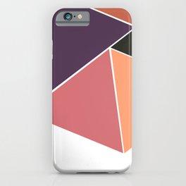 Tangerine Geometry iPhone Case