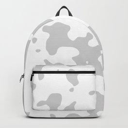 Large Spots - White and Light Gray Backpack