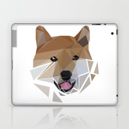 Low polygon shiba inu face Laptop & iPad Skin